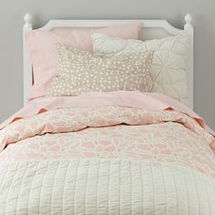 The Well Nested kids bedding (pink) incorporates a playful feather and branch design perfect for a forest themed girls room. Pink Bedding, Luxury Bedding, Bedding Sets, Baby Bedding, Cotton Bedding, Girls Bedroom, Bedroom Decor, Bedroom Curtains, Kid Bedrooms