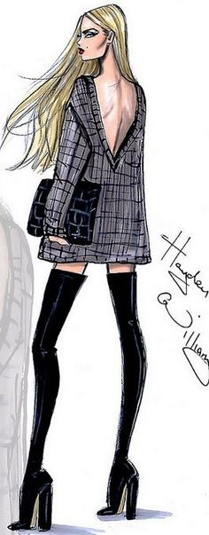 nice Fashion Illustration by Hayden Williams... by http://www.polyvorebydana.us/fashion-sketches/fashion-illustration-by-hayden-williams/
