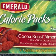 #emerald cocoa roasted almonds. 2g net carbs. Great #snack on the go!  #lazylowcarb #keto #ketosnack #lowcarb #atkins #atkinsdiet #food #diet #ketodiet #lowcarbsnack #lowcarbdiet #almonds #sweet #loseweight #healthyeating #healthychoices