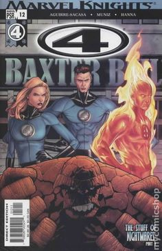 4 (2004 Marvel Knights) 12 Marvel Comics Modern Age Comic book covers Super Heroes Villians Sue Storm Reed Richards The Thing Human Torch Fantastic Four