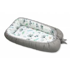 Pamut waffel babafészek - Pasztell kert, szürke Comforters, Strong, Colour, Type, Floral, Nature, Pattern, Cotton, Products