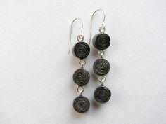 newspaper earrings | BLURECO