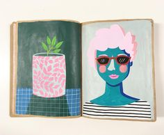 Amy Blackwell @amyjpeg Sketchbook pages