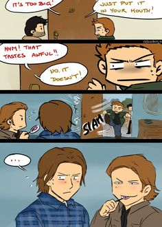 Sabriel. Personally I ship Samifer more but this was too funny to not repin