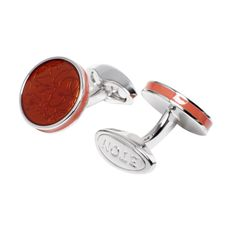 Cufflinks - Orange Enamel