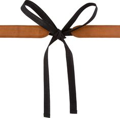 Maison Martin Margiela Brown Leather & Black Textile Tie Belt