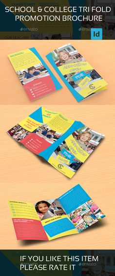 Tri Fold School Brochure Template School Brochure Template PSD - school brochure template