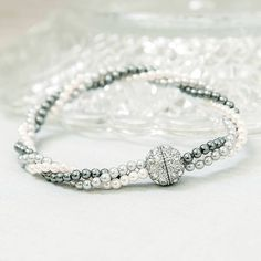 Dibor Dove Rope Twist Glitter Ball Bracelet (€29) ❤ liked on Polyvore featuring jewelry, bracelets, glitter jewelry, twist jewelry, rope jewelry, twisted bangle and ball bracelet