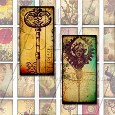 NEW Vintage Eclectic Mix 1  Digital Collage Sheet by calicocollage, $3.75