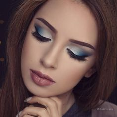 I love how that blue smokey eye turned out ? If you want to see how I did - Makeup Looks Classic Denitslava Makeup, Prom Eye Makeup, Dramatic Eye Makeup, Colorful Eye Makeup, Makeup For Green Eyes, Blue Eye Makeup, Cute Makeup, Smokey Eye Makeup, Pretty Makeup