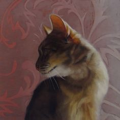 Taz, a cat painting, painting by artist Diane Hoeptner