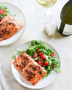 Easy maple grilled Dijon salmon with bacon. Mmmm!