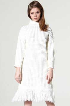 Lina Tassel Cable Knit Dress Discover the latest fashion trends online at storets.com  #tassel #cableknit #dress