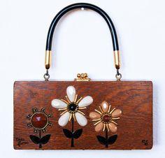 Enid Collins del Texas Tres Flores Box Bag di niwotARTgallery