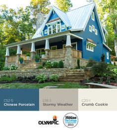 2015 This Old House Idea House, the Cottage at Cloudland Station Siding Colors For Houses, Exterior House Colors, Exterior Paint, Storybook Cottage, Old Cottage, Future House, My House, Painted Brick Exteriors, American Houses