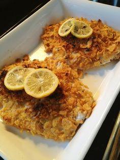 Frito-Crusted Flounder