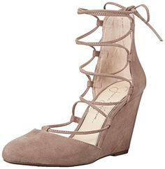 264a03457ef Jessica Simpson Womens Jacee Wedge Pump Warm Taupe 65 M US   Offer can be  found