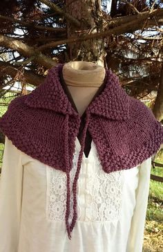 Outlander Capelet FREE Shipping in USA by Shelleden on Etsy PDF Knitting Pattern…