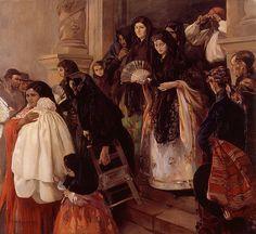 La salida de misa en Rocafort //1915// José Benlliure Ortiz 1884 - 1916  #CatholicMass