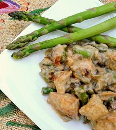 Cream of Mushroom Chicken: The Realistic Nutritionist. This looks healthy AND quick, but more importantly, it looks yummy, too!