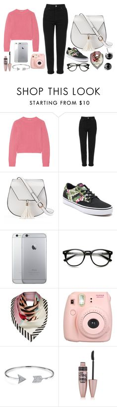 """Pretty one"" by pareal ❤ liked on Polyvore featuring Miu Miu, Topshop, Yoki, Vans, Lulu Guinness, Fujifilm, Bling Jewelry, Maybelline, Spring and fashionset"