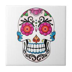 Sugar Skull - Day of the Dead, Tattoo, Mexico
