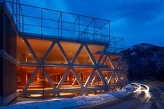 An elegant entrée for the new festival district: The new festival parking garage is the final component in the repositioning of the Tyrolean Festival Erl. Th...