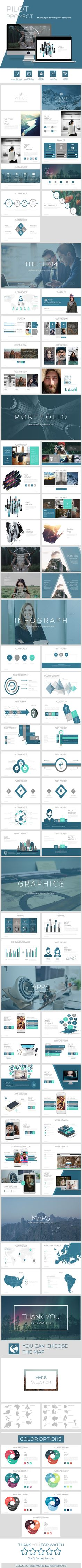PILOT Proyect powerpoint template  • Only available here ➝…