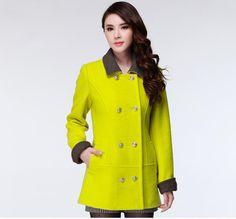 Neon yellow coat
