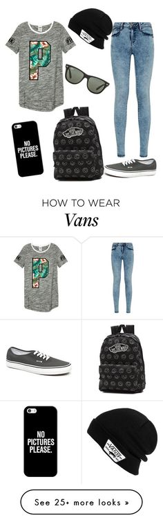 swaggie by xondxo on Polyvore featuring Vans, Ray-Ban and Casetify