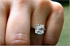 Looking for a moissanite engagement ring without breaking the bank? Then this white gold ring is for you! This leaf engagement ring so beautiful, a lot of diamonds, and super sparkly moissanite! It is fully handmade and hand set from start to finish. Thin Engagement Rings, Harry Winston Engagement Rings, Baguette Engagement Ring, Square Diamond Rings, Diamond Wedding Bands, Wedding Rings, Bridal Rings, Wedding Bells, White Gold Rings