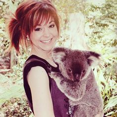 """Lindsey Stirling and a koala. I had a hard time chosing between my """"music"""" board and this one... but cuteness won!"""