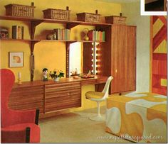 Ideas for a 70s bedroom on pinterest 70s bedroom the for Furniture 70s style