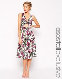 ASOS TALL Floral Twist Front Dress