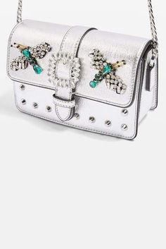 af475178a06e Topshop Rosie Jewel Embellished Faux Leather Crossbody Bag Gifts For Teens,  Leather Crossbody Bag,