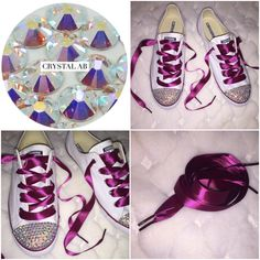61b816e88191 48 Best All Star Custom Converse Bling Toes   Ribbon Laces images in ...