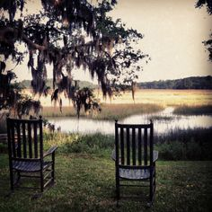 Backyard in low country -- looks exactly like the view from my last apartment, except I had Adirondack chairs Low Country, Country Life, Country Living, Country Charm, Southern Living, Southern Comfort, Southern Belle, Southern Charm, Southern Nights