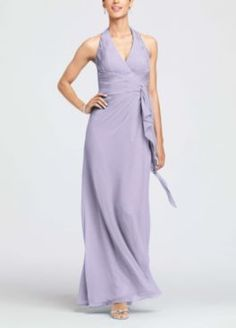 Long Bridesmaid Dresses - David's Bridal. Also on sale for $99. On looking again, I'm not a fan of wisteria, it's too dark. Iris is the best color option.