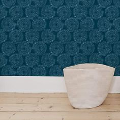 Flipside Painted Blue Teal Circles. Easy to Apply and Easy to Remove Pre-Pasted Wall Paper That Will Not Damage Walls. Each roll is 18ft Long x 18in Wide. by Flipside. - - Amazon.com