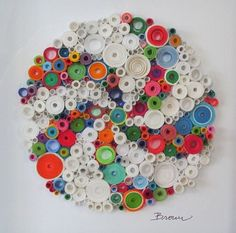 Quilled Colorful helix