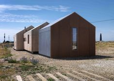 Architect Guy Hollaway used rusty steel mesh, silvery larch and grey cement fibreboard to clad this house on Dungeness beach – Britain's only desert.