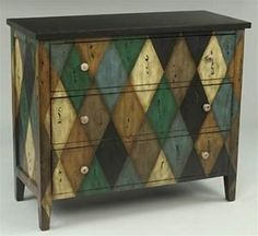 Home Living Style Bedroom Furniture - Harlequin Design Chest of Drawers 45354