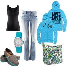 turquoise, created by jeanie236 on Polyvore