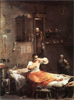 Giuseppe Maria Crespi Searcher for Fleas, , Musee du Louvre, Paris. Read more about the symbolism and interpretation of Searcher for Fleas by Giuseppe Maria Crespi. Poster Prints, Framed Prints, Canvas Prints, Posters, Grand Palais, Old Master, Portraits, Michelangelo, Oeuvre D'art