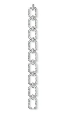 Harry Winston Diamond Link Bracelet featuring 181 diamonds set in platinum.