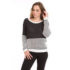 Sunrise Pullover Black White, $170, now featured on Fab.