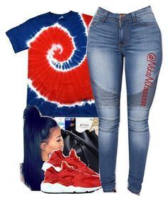 A fashion look from June 2016 featuring tie die shirts, army green jeans and nike footwear. Browse and shop related looks. Swag Outfits For Girls, Cute Swag Outfits, Teenager Outfits, Dope Outfits, College Outfits, Pretty Outfits, Girl Outfits, Casual Outfits, Fashion Outfits