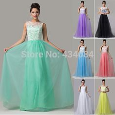 Cheap dress rack, Buy Quality dress yoga directly from China dress wear beach wedding Suppliers:     Special Occasion Tulle Long Ball Prom Dresses Lace Appliques White & Green Evening