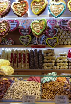 Frankfurt Christmas Market candied nuts, gingerbread hearts and more.