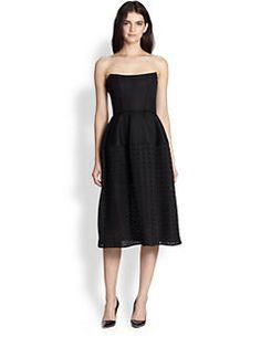 NICHOLAS - Embellished Mesh Strapless Dress